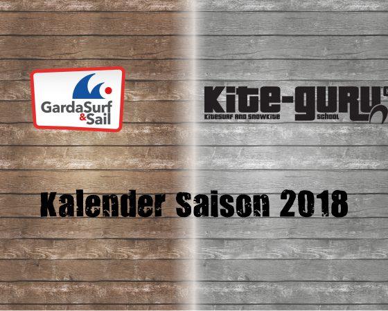 Kalender Saison 2018
